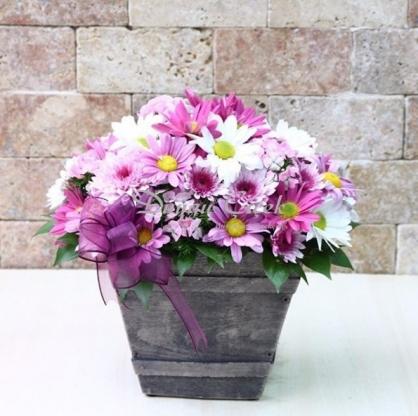 Kır Çiçekleri Arajmanı-Otantik Vazoda