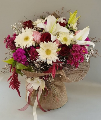Renkli Mevsim-Çiçek Buketi