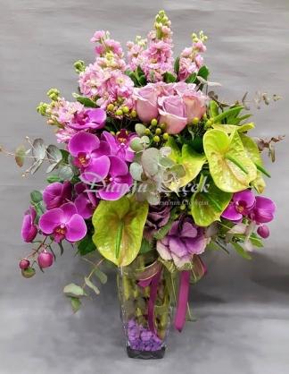 Orkideli Pembe  Arajman